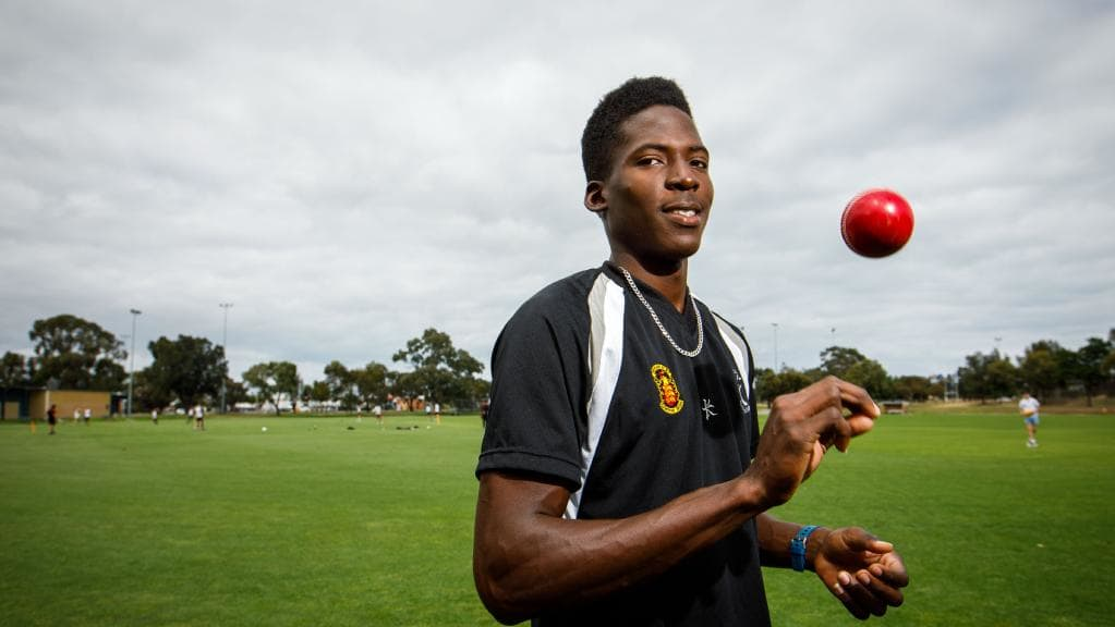 Caribbean based Chemar Holder representing the DLCA in Adelaide, Australia