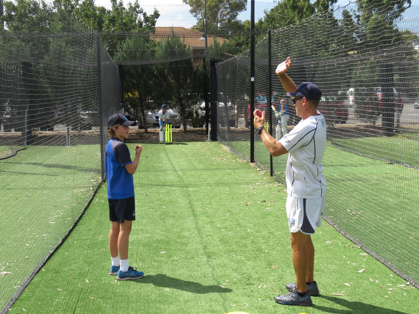 Bailey Doe from Westminster and Brad Young working one-on-one during the 2019 DLCA Schools Program
