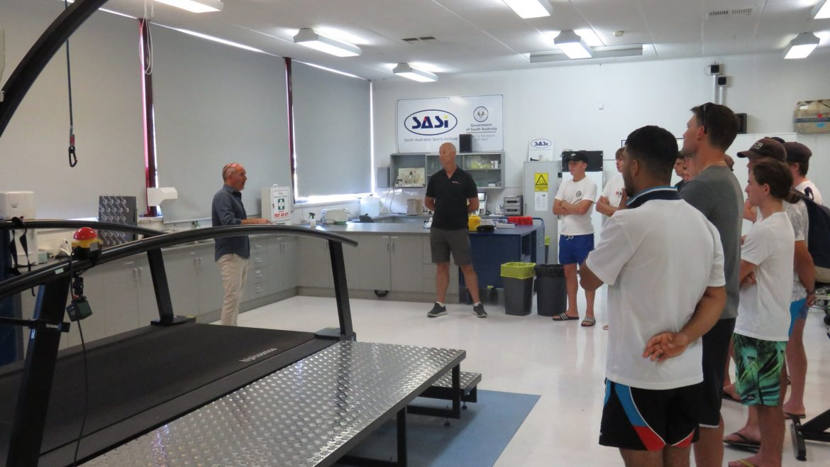 High Performance Players tour the South Australian Sports Institute