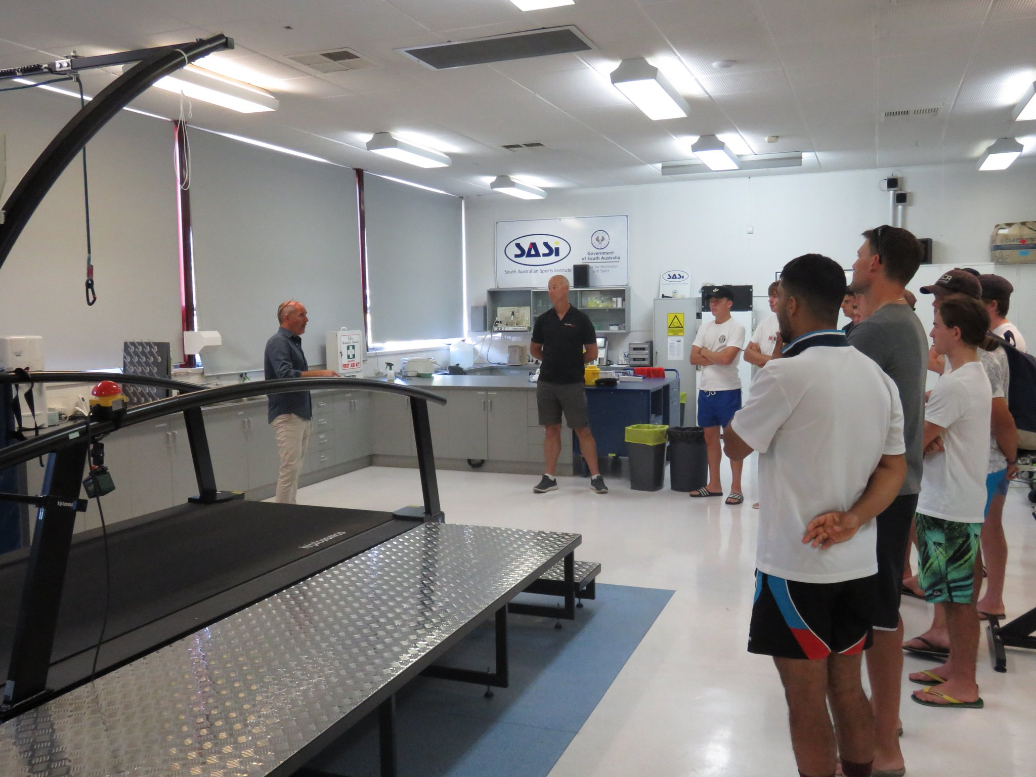 High Performance Players tour the South Australian Sports Institute (SASI)